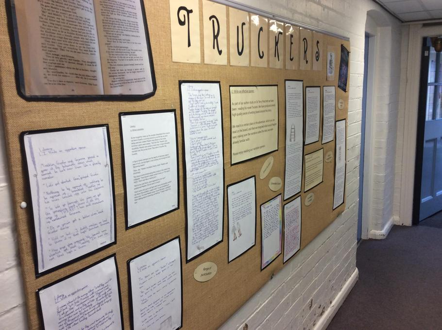 Currently, our narrative work is on display in the main corridor.