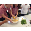 Vegetarian patty using chickpeas