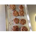 Cooked turkey patties