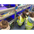 Looking at the fish in Pets at Home.