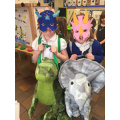 Dressing up as dinosaurs