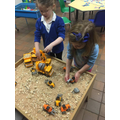 Working out which digger holds the most!