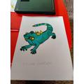 Chloe's iguana