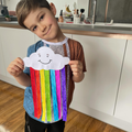 Ruben has also made a colourful rainbow.