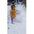 Jasmine made a snowman