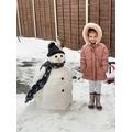 Sky made a snowman