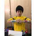 Nathaniel has made some superhero cuffs.