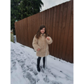Myla found a really big icicle!