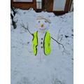 Worker snowman
