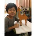 Nathaniel has also made a camel.