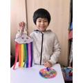 Nathaniel has also made a rainbow.
