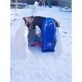 Ruby built an igloo!