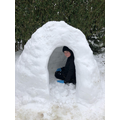 Testing out the igloo
