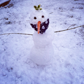Ruben made a snowman and called it Jimmy!