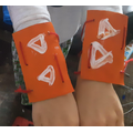 Leighton's superhero cuffs