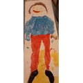 Look at Leighton's life-size self portrait!