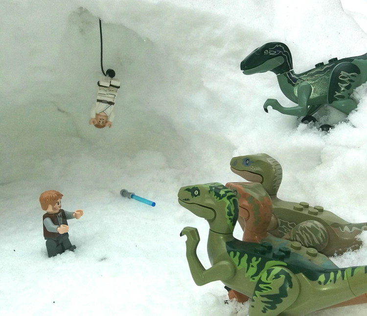 Han Solo fought the dinosaurs!