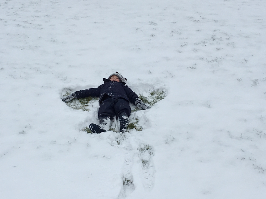 and being an obligatory snow angel.
