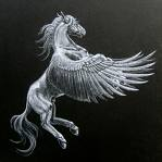 Greek House's winged horse logo