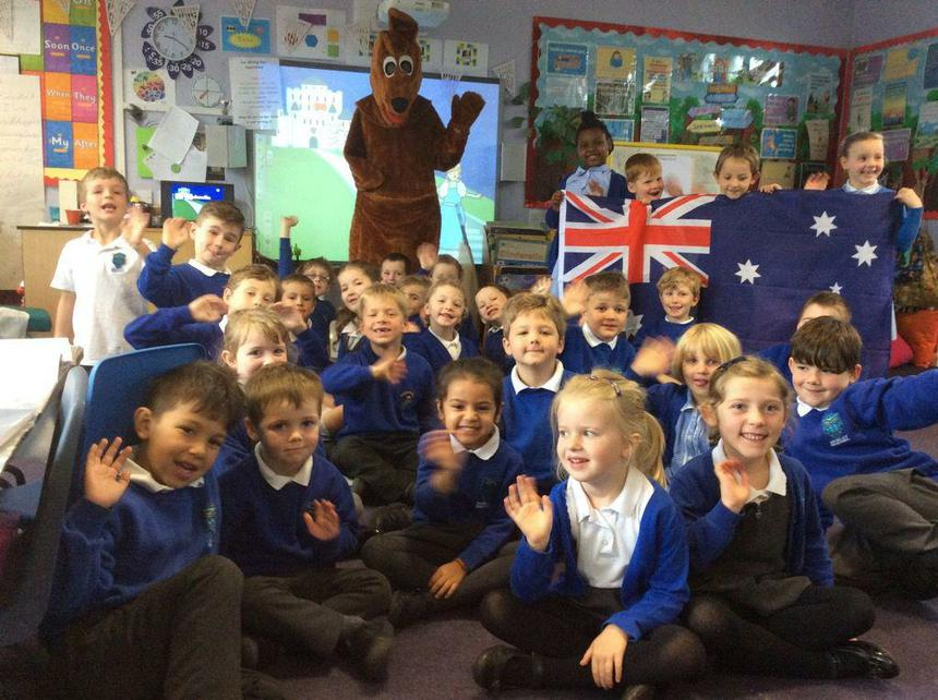 We had a furry visitor from Australia