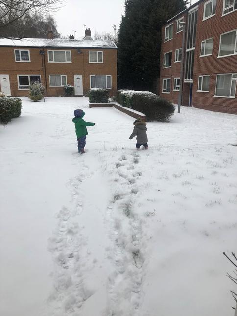 Max and Ben being Arctic explorers