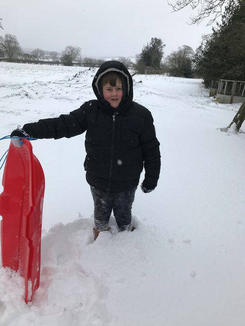 Oliver used his sledge
