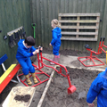 Digging in the stables