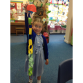 We created long caterpillar paper-chains