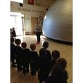 We went in a planetarium!