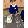 Mark making with chunky chalks