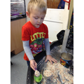 We explored capacity with Gruffalo crumble