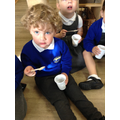 We made porridge like the 3 bears
