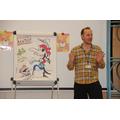 Chris White Poet inspires pupils at Morton