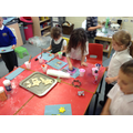 We made salt dough decorations!