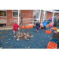 Mini Mortons and reception class work together