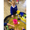 Searching for treasure in water