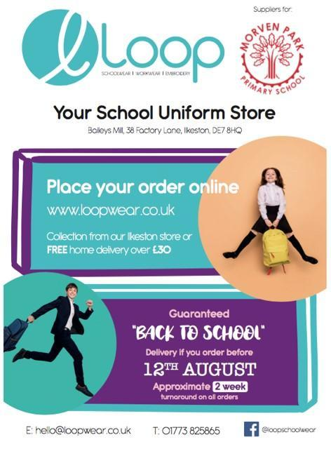 Orders should be placed by 12th August 2021 ready for the new academic year