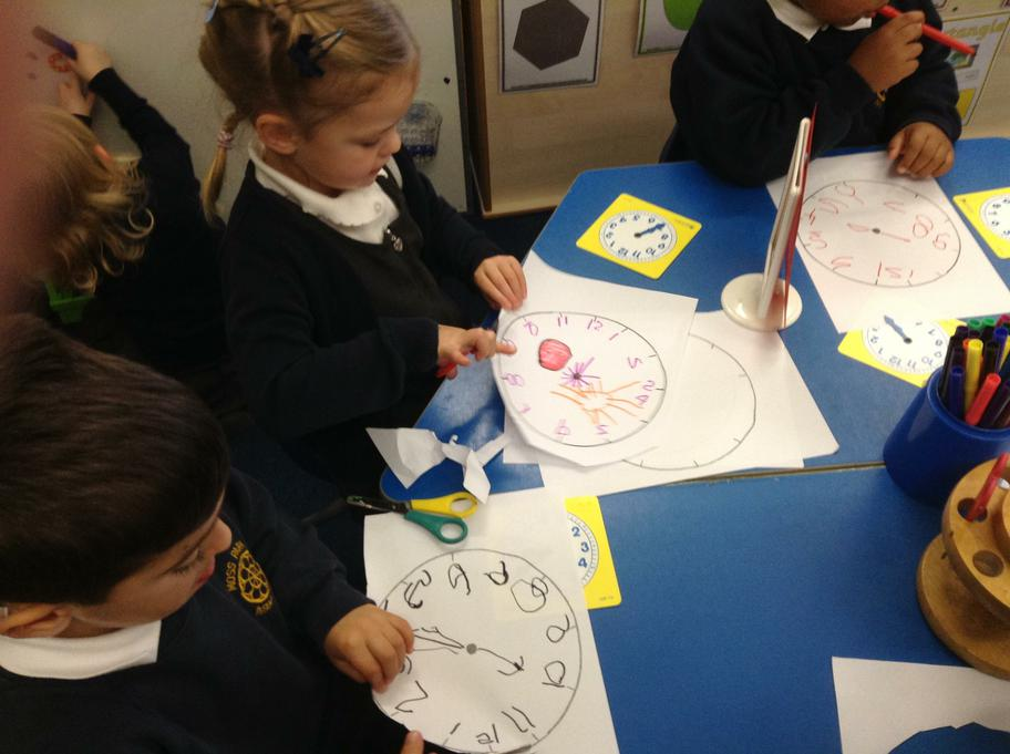 Making clocks like in the story Peace at Last