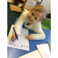 Jessica LOVES writing!