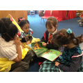 We enjoyed listening to Year 2 reading stories.