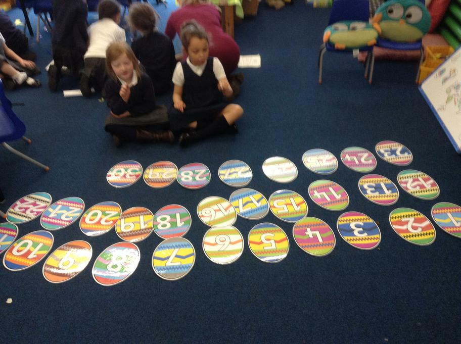 Ordering the Easter egg numbers, to 30 wow!
