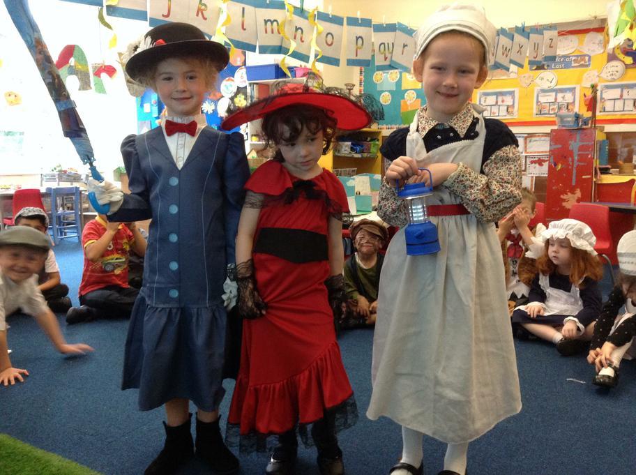 Mary Poppins, Scarlet O'Hara &  Florence