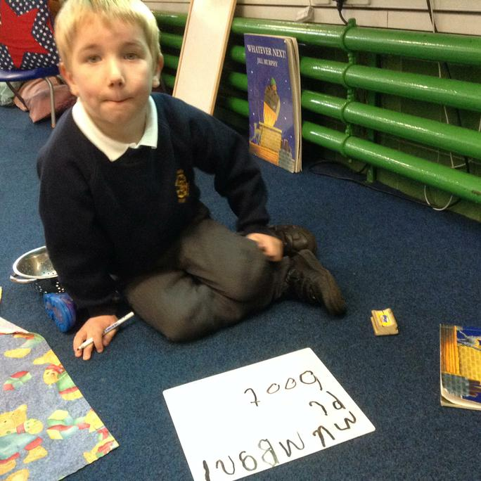 Writing words from the story