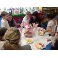 We enjoyed sharing the sandwiches