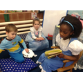 Year 2 came to read stories with us.