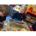 counting and sorting sticks