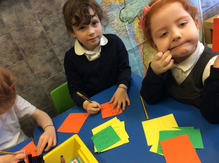 Lola & Nicole are describing shapes for a game