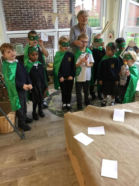 Green capes for our Eco Eddie's