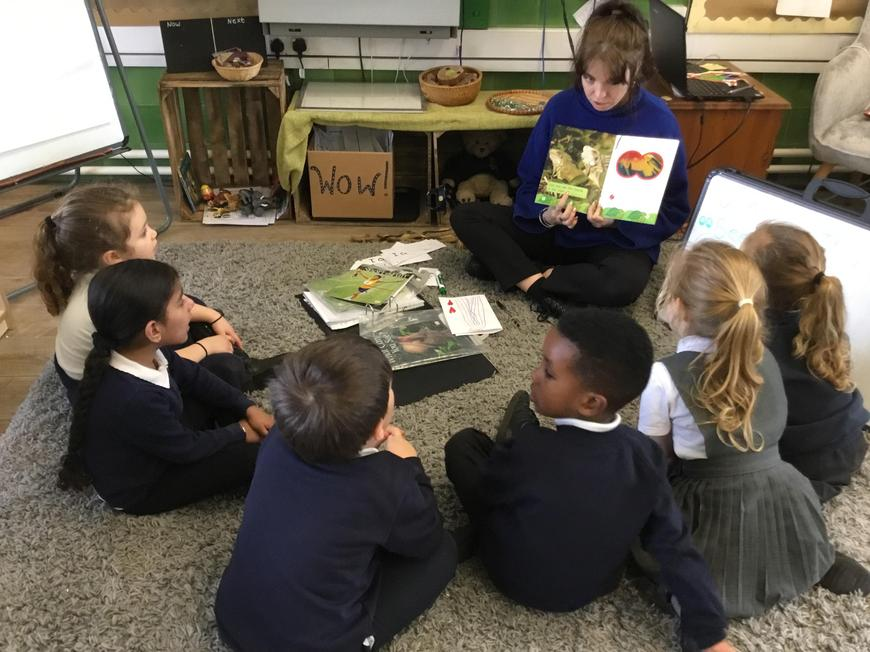 Year 2 loved reading to the little
