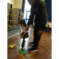 We even used sticks in PE